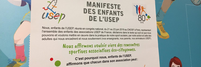 Emparez-vous du Manifeste des enfants de l\'USEP!
